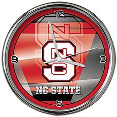 Officially Licensed NCAA Shadow Chrome Clock - North Carolina State