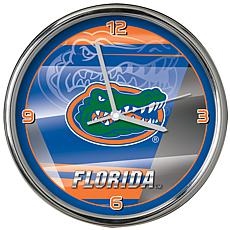 Officially Licensed NCAA Shadow Chrome Clock - University of Florida