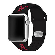 Officially Licensed NCAA Silicone Apple Watch Band - Alabama - Black