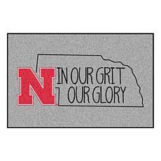 Officially Licensed NCAA Southern Style Rug - University of Nebraska