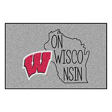 Officially Licensed NCAA Southern Style Rug - University of Wisconsin