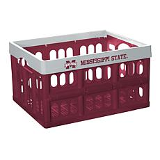 Officially Licensed NCAA Team Collapsible Crate - Mississippi State