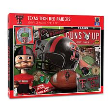 Officially Licensed NCAA Texas Tech Red Raiders Retro 500-Piece Puzzle
