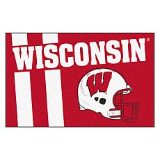Officially Licensed NCAA Uniform Rug - University of Wisconsin