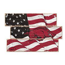 Officially Licensed NCAA University of Arkansas Three Plank Flag