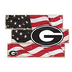 Officially Licensed NCAA University of Georgia Three Plank Flag