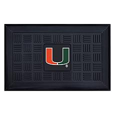 Officially Licensed NCAA University of Miami Heavy Duty Door Mat