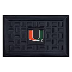 Officially Licensed NCAA University of Miami Heavy Duty Door Mat