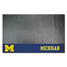 Officially Licensed NCAA Vinyl Grill Mat - University of Michigan