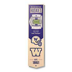 Officially Licensed NCAA Washington Huskies 3D Stadium Banner