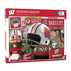 Officially Licensed NCAA Wisconsin Badgers Retro 500-Piece Puzzle