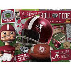 Officially Licensed NCAA  Wooden Retro Series Puzzle - Alabama