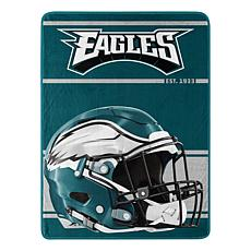 Officially Licensed NFL 059 Run Micro Raschel Throw - Eagles