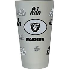 "Officially Licensed NFL ""#1 Dad"" 16 oz. Frosted Pint Glass -  Raiders"