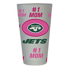 """Officially Licensed NFL """"#1 Mom"""" Frosted Pint Glass - New York Jets"""