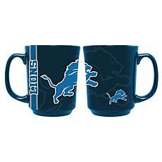 Officially Licensed NFL 11 oz. Reflective Mug - Detroit Lions