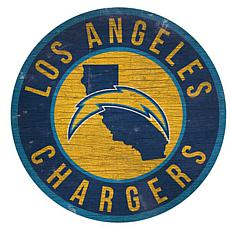 "Officially Licensed NFL 12"" Circle Sign with State & Logo"
