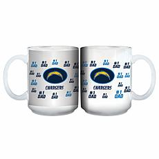 Officially Licensed NFL 15 oz. Father's Day Team Mug - Chargers
