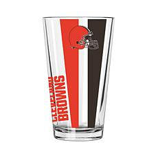 Officially Licensed NFL 16 oz. Vertical Decal Pint - Browns