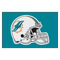"""Officially Licensed NFL 19"""" x 30"""" Helmet Logo Starter Mat - Dolphins"""