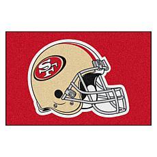 """Officially Licensed NFL 19"""" x 30"""" Helmet Logo Starter Mat - 49ers"""