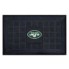 "Officially Licensed NFL 19.5"" x 31"" Heavy-Duty Door Mat - Jets"