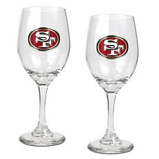 Officially Licensed NFL 2-piece Wine Glass Set-SF 49ers