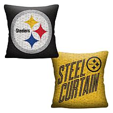 """Officially Licensed NFL 20"""" Invert Pillow - Steelers"""