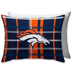 "Officially Licensed NFL 20"" x 26"" Plush Bed Pillow - Denver Broncos"