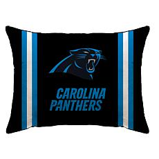 """Officially Licensed NFL 20"""" x 26"""" Plush Striped Bed Pillow - Panthers"""