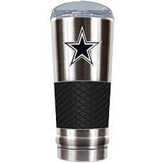 Officially Licensed NFL 24 oz. Stainless Steel/Black Dr