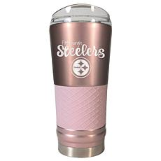 Officially Licensed NFL 24oz Rose Gold Draft Tumbler - Steelers