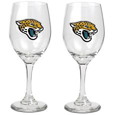 Officially Licensed NFL 2pc Wine Glass Set-Jacksonville