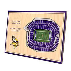 Officially Licensed NFL 3-D Desktop Display - Minnesota Vikings
