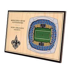 Officially Licensed NFL 3-D Desktop Display - New Orleans Saints
