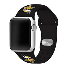 Officially Licensed NFL 38/40mm Black Apple Watch Band - MN Vikings