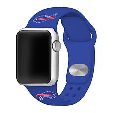 Officially Licensed NFL 38/40mm Blue Apple Watch Band - Buffalo Bills