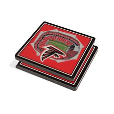 Officially Licensed NFL 3D StadiumViews Coaster Set - Atlanta Falcons