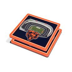 Officially Licensed NFL 3D StadiumViews Coaster Set - Chicago Bears