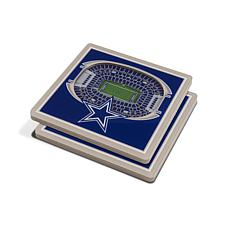 Officially Licensed NFL 3D StadiumViews Coasters - Dallas Cowboys
