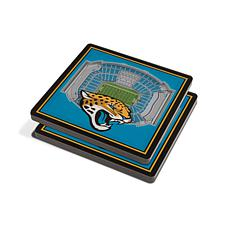 Officially Licensed NFL 3D StadiumViews Coasters- Jacksonville Jaguars