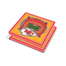 Officially Licensed NFL 3D StadiumViews Coasters - Kansas City Chiefs