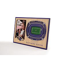 Officially Licensed NFL 3D StadiumViews Frame - Baltimore Ravens