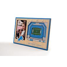 Officially Licensed NFL 3D StadiumViews Frame - Detroit Lions