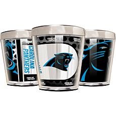 Officially Licensed NFL 3pc Shot Glass Set - Panthers
