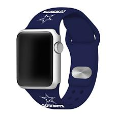 Officially Licensed NFL 42/44mm Apple Watch Med. Sport Band - Cowboys