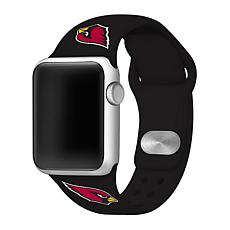 Officially Licensed NFL 42/44mm Apple Watch Med Sport Band - Cardinals