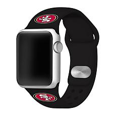 Officially Licensed NFL 42/44mm Apple Watch Sport Band - SF 49ers