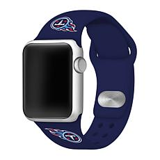Officially Licensed NFL 42mm/44mm Apple Watch Med. Sport Band - Titans