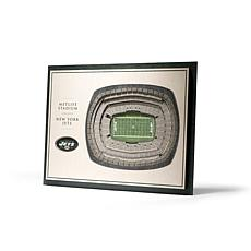 Officially Licensed NFL 5-Layer 3-D Wall Art - New York Jets